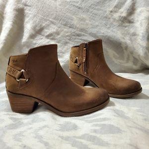 Teva Foxy Dark Brown Ankle Booties 7
